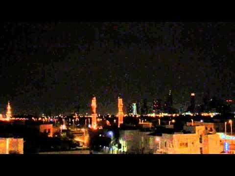 Working wake up call to prayer in Dubai.