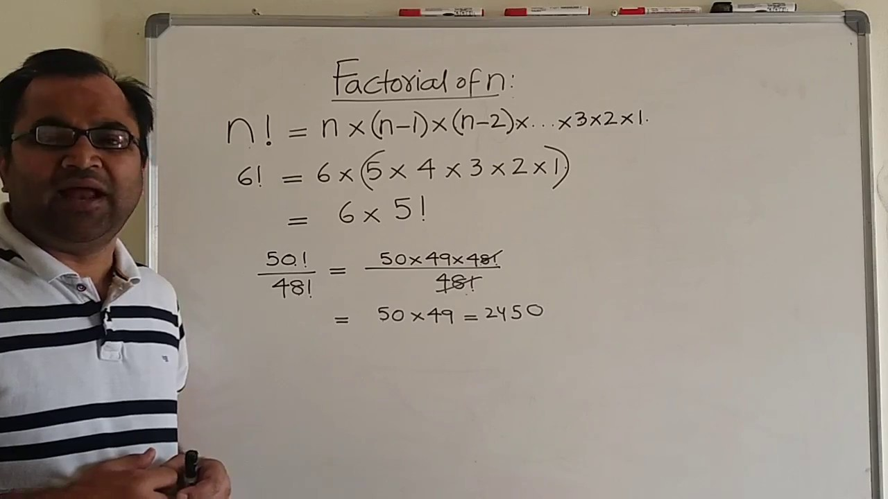 The Formula Of Factorial Of A Number N