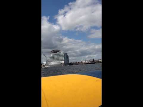 On the Speed Boat in Cardiff Bay