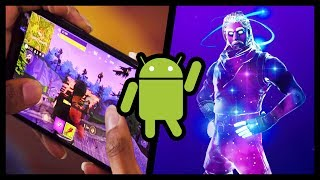 FORTNITE ANDROID IS FINALLY DISPONIBLE - HOW TO DO THE GALAXY SKIN!