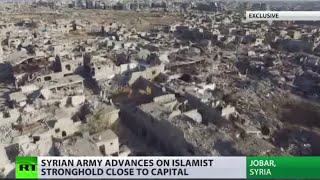 Ruins & Underground tunnels: Exclusive footage from destroyed Jobar, Damascus