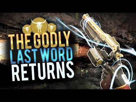 The GODLY Last Word Returns.. It's So Perfect! (Destiny 2)
