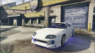 GTA5 Toyota Supra MOD (driving) (First Person) (PC)