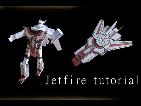 Papercraft Jetfire - papercraft - moving paper - tutorial - dutchpapergirl