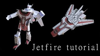 Jetfire - papercraft - moving paper - tutorial - dutchpapergirl