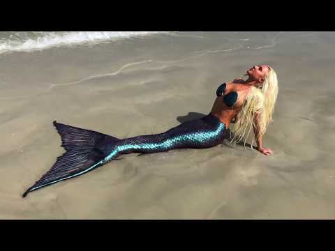 Color Changing Mermaid Tail! Amazing Mermaid Melissa Tropical Beach Footage Captured