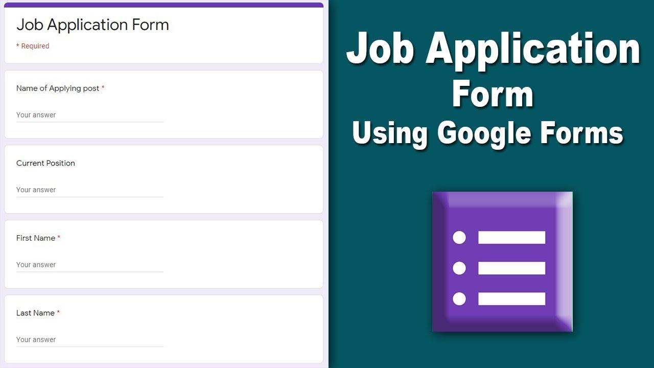 google form job application How to Make Job Application Form Using Google Forms Free