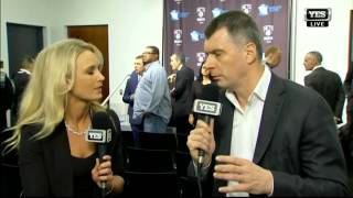 Mikhail Prokhorov one-on-one talking coaching change with Sarah Kustok