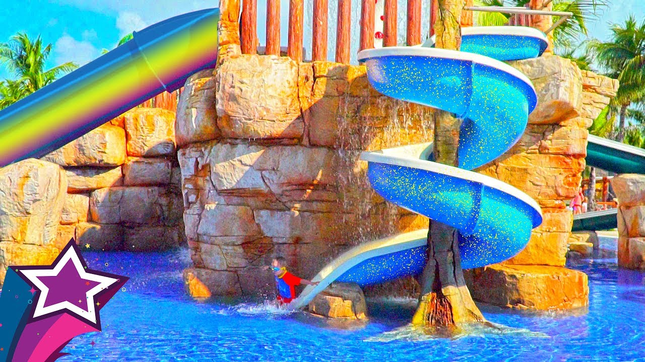 Max Plays At New Kids Water Park Playground In Mexico Fun Playtime Slides Funny Cute Boy Irl Travel
