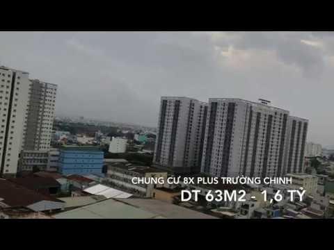 Bán nhà Chung cư 8x plus Trường Chinh , DT 63m2, 2PN, 2WC, Giá 1,6 tỷ. LH 0936042074