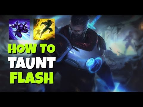 How to TAUNT FLASH with Shen! League of Legends