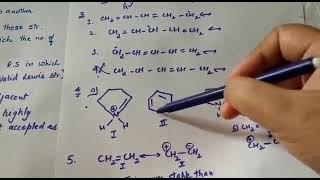 Class 11 & 12 resonance rules