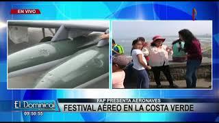 Costa Verde: FAP presenta aeronaves en festival aéreo 2017 Video