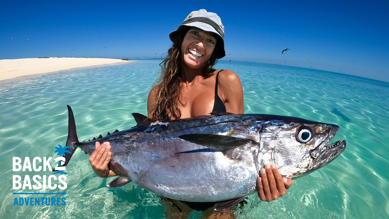 BIGGEST FISH SHE'S EVER SPEARED! Dogtooth Tuna & Big Sharks, Surviving From The Ocean (Ep: 12)