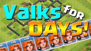 Clash of Clans: VALKS for DAYS!  TH9 Farming with MAX Heroes!