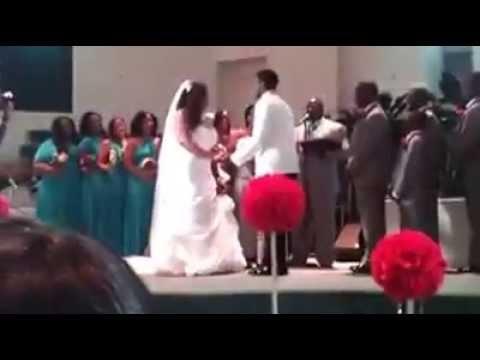 Adrian Bell Brittany Mitchell Wedding Kiss