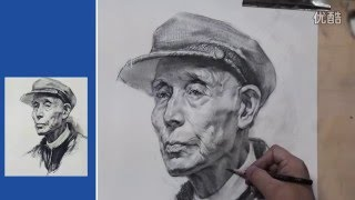 Time-lapse Portrait Drawing Demonstration by pencil