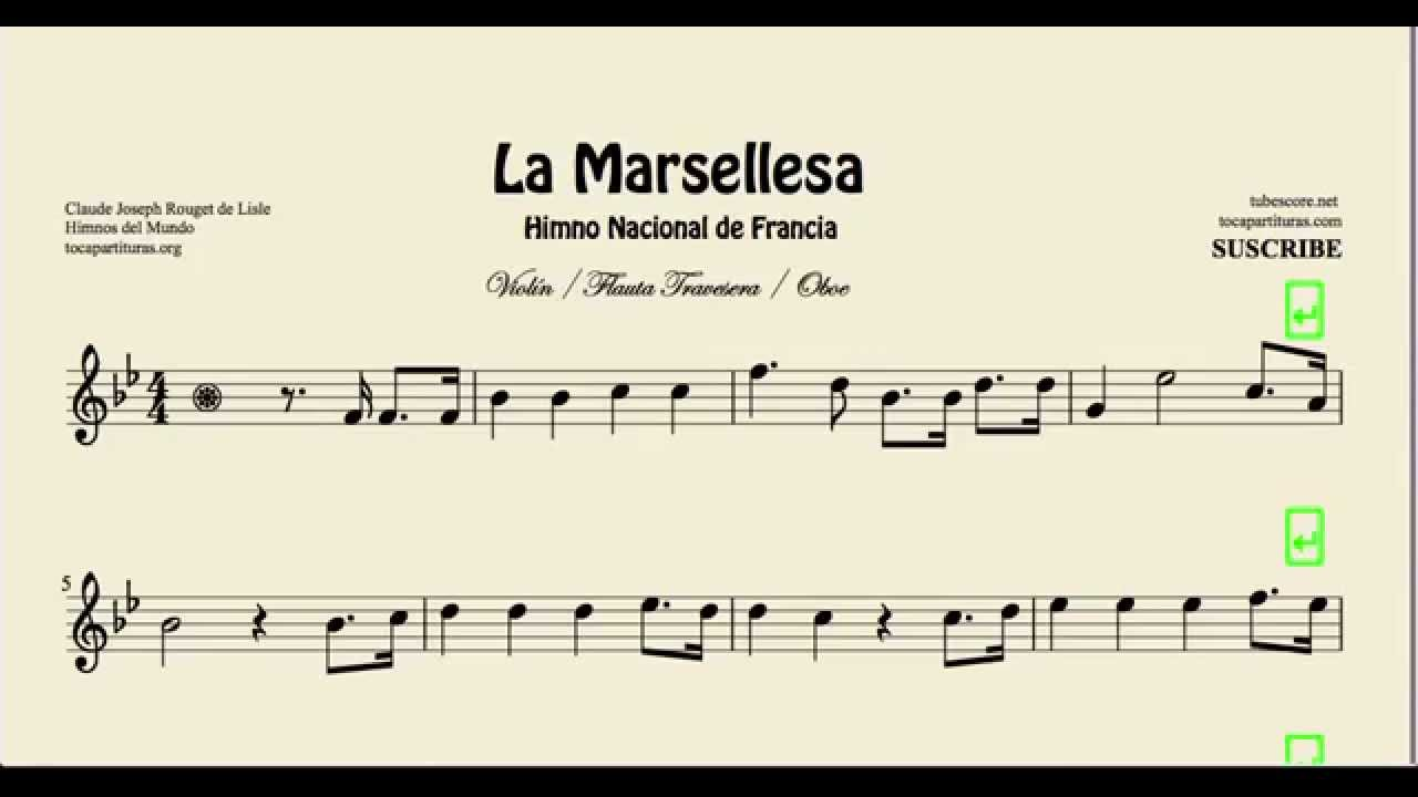 La Marseillaise Sheet Music for Violin Flute and Oboe - YouTube
