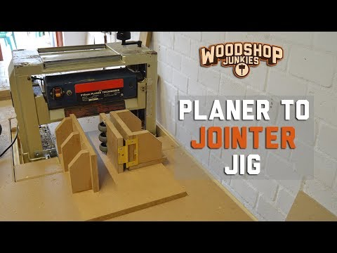 Turning My Planer Into A Jointer - Squaring wood with a planer - Jig prototype