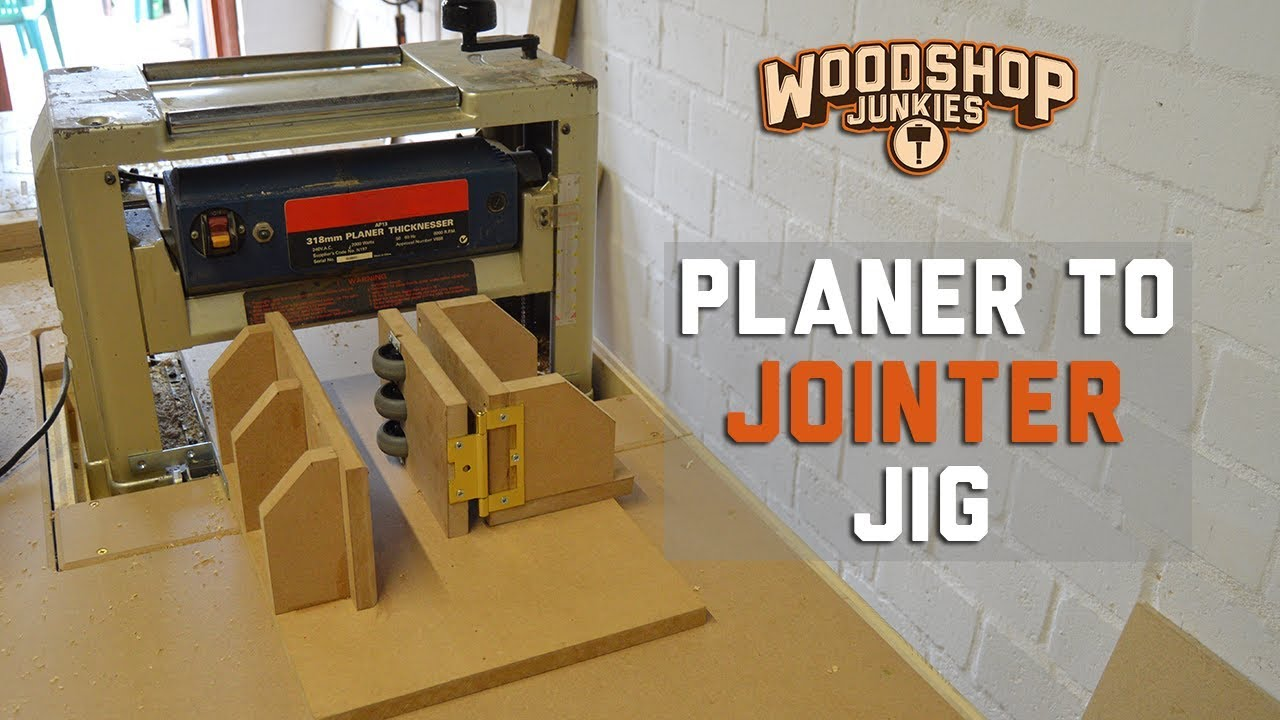 Turning My Planer Into A Jointer Squaring Wood With A Planer Jig Prototype Youtube