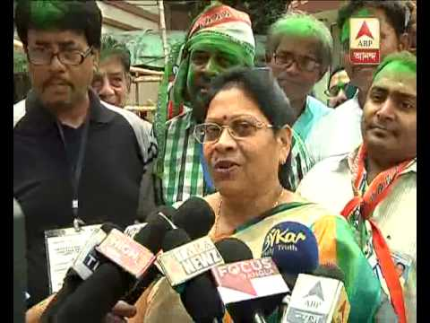 tmc candidate mala ray's reaction on TMC's civic poll victory