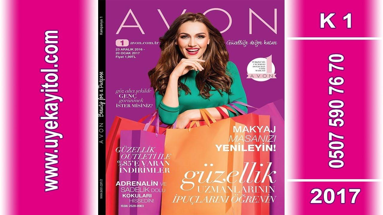 Avon k1 Katalog 2017 - Avon Ocak Katalog  2017 Full HD