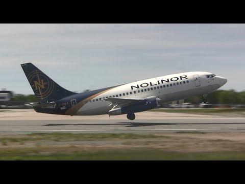 Nolinor Boeing 737-2L9 - Landing \u0026 Takeoff