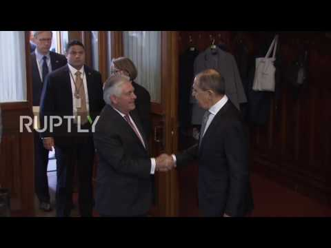 Russia: Lavrov welcomes Tillerson in Moscow for bilateral talks