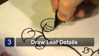 How to Draw Bean Sprout Plant Leaves