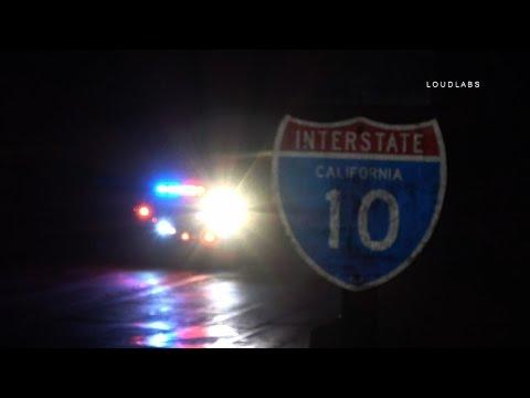 Fatal Vehicle Vs Pedestrian I-10 Freeway / West Covina   RAW FOOTAGE
