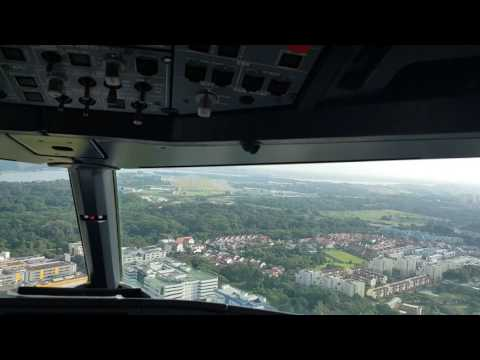 Challenging approach at Seletar, Singapore during ferry flight by  Capt Vijay Lama