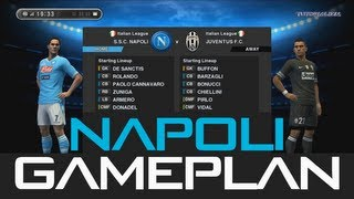 Pes 2013 - Best (Napoli) Gameplan / Formation !!! (HD) Ranking Match