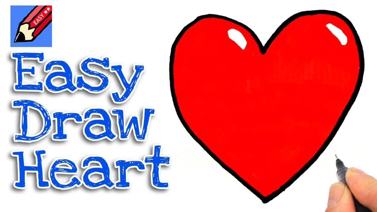 How To Draw A Heart Real Easy For Kids And Beginners Youtube