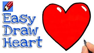 How to draw a heart real easy for kids and beginners