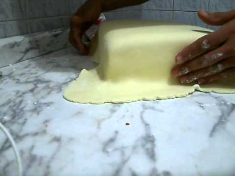 Pasta de Leite -  Cobrindo Bolo Retangular /Quadrado TRAVEL_VIDEO