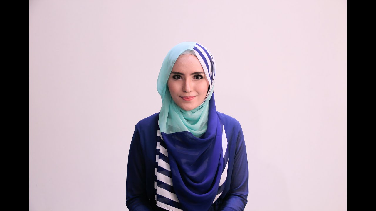 Hijab Tutorial 63 Chiffon Stripes Shawl By Zahratul Jannah YouTube