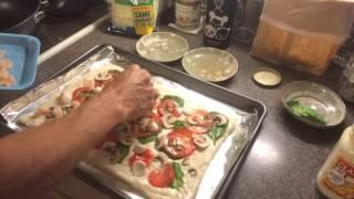 Roasted Garlic Alfredo Shrimp Pizza
