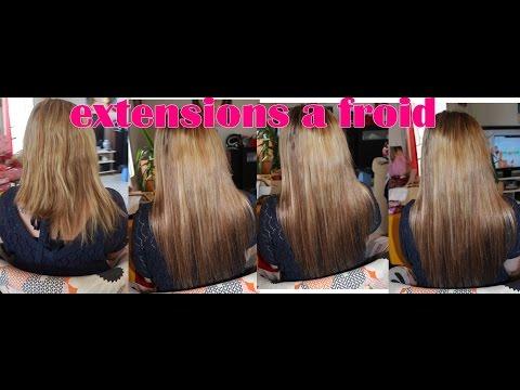 pose d extensions de cheveux sur carre plongeant asymétrique - YouTube