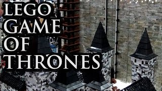 LEGO Castle Black / The Wall | Game of Thrones | Brickworld Chicago 2016
