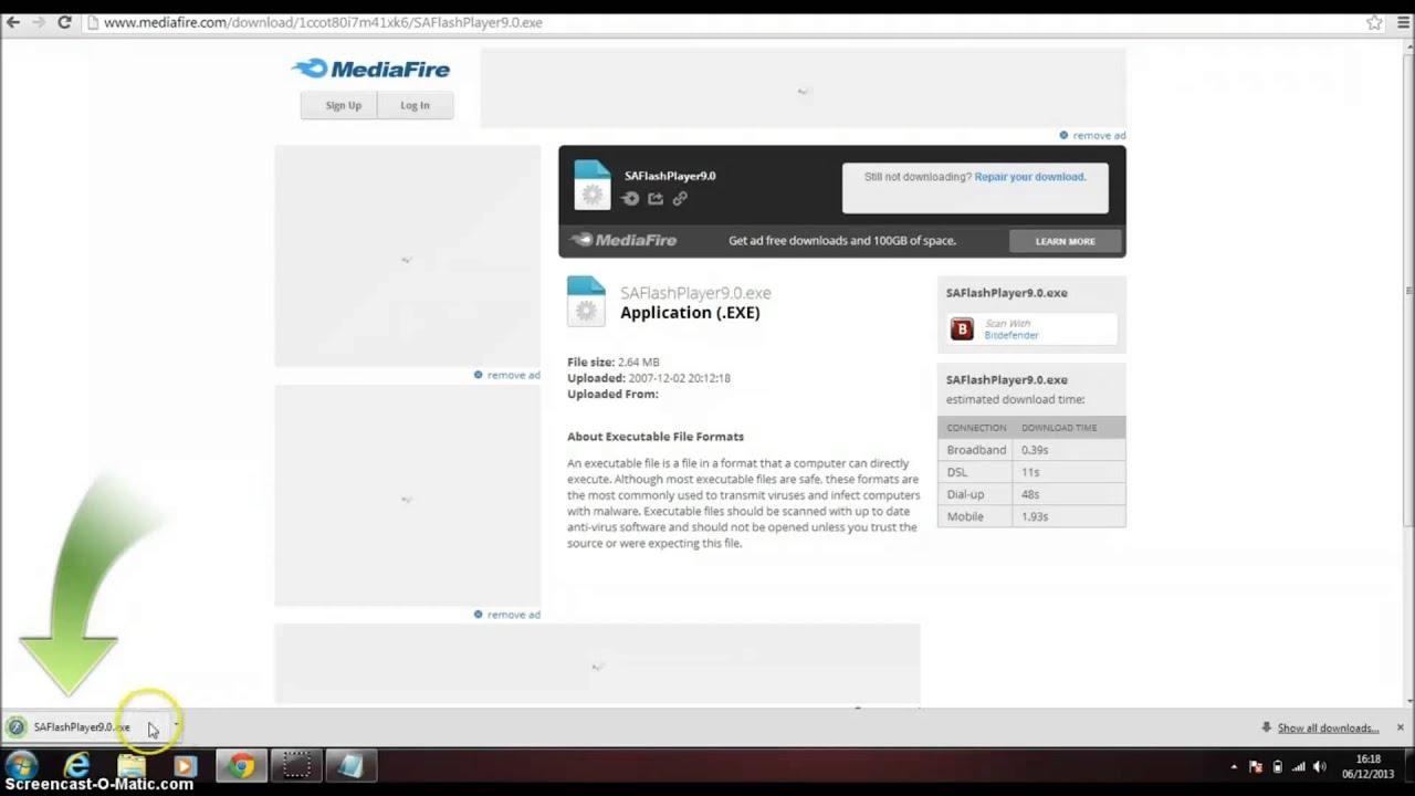 descargar adobe flash player 9 para windows 7
