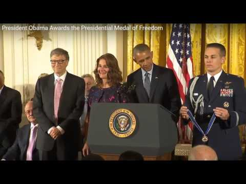 Bill & Melinda Gates Presidential Medal of Freedom 2016