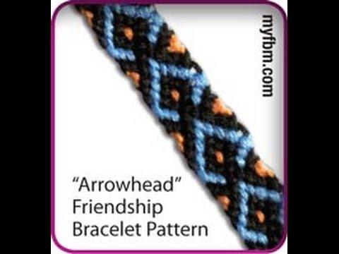 Friendship Bracelet Tutorial Arrowhead Pattern Knot It