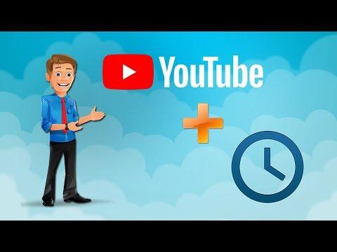 Запланированная публикация видео на YouTube. Отложенная публикация
