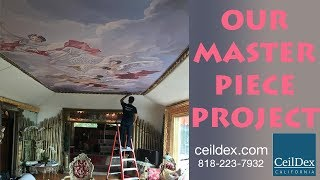 Best looking ceiling. Fully custom, drawn image design! You will love it!