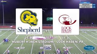 NCAA Division 2 Football: Shepherd @ Lock Haven