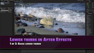 Erstellen eines einfachen unteren Drittel Unteren Drittel in After effects 1 von 3: