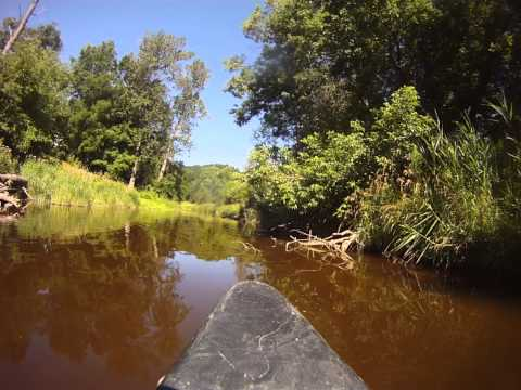 Travel up through Rivers in a Kayak in Owen Sound, Ontario Travel