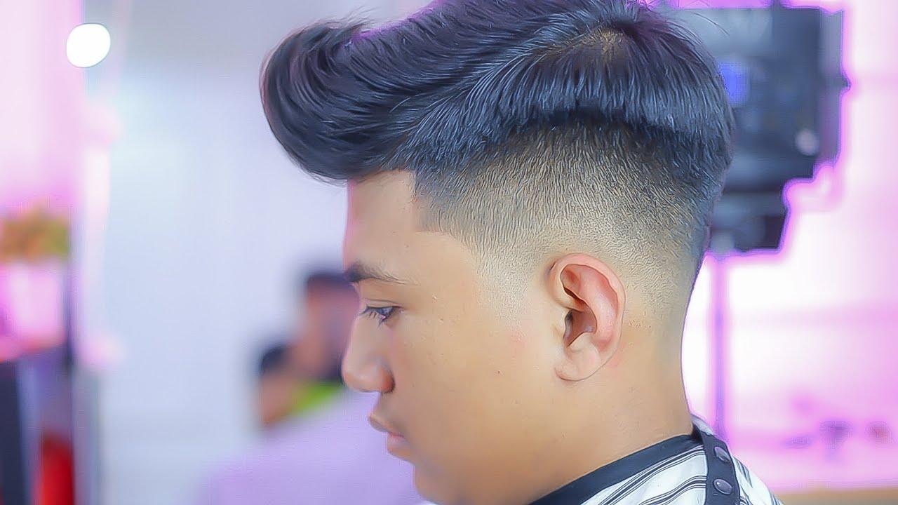 TUTORIAL POTONG RAMBUT FADE DENGAN QUIFF HAIR STYLE