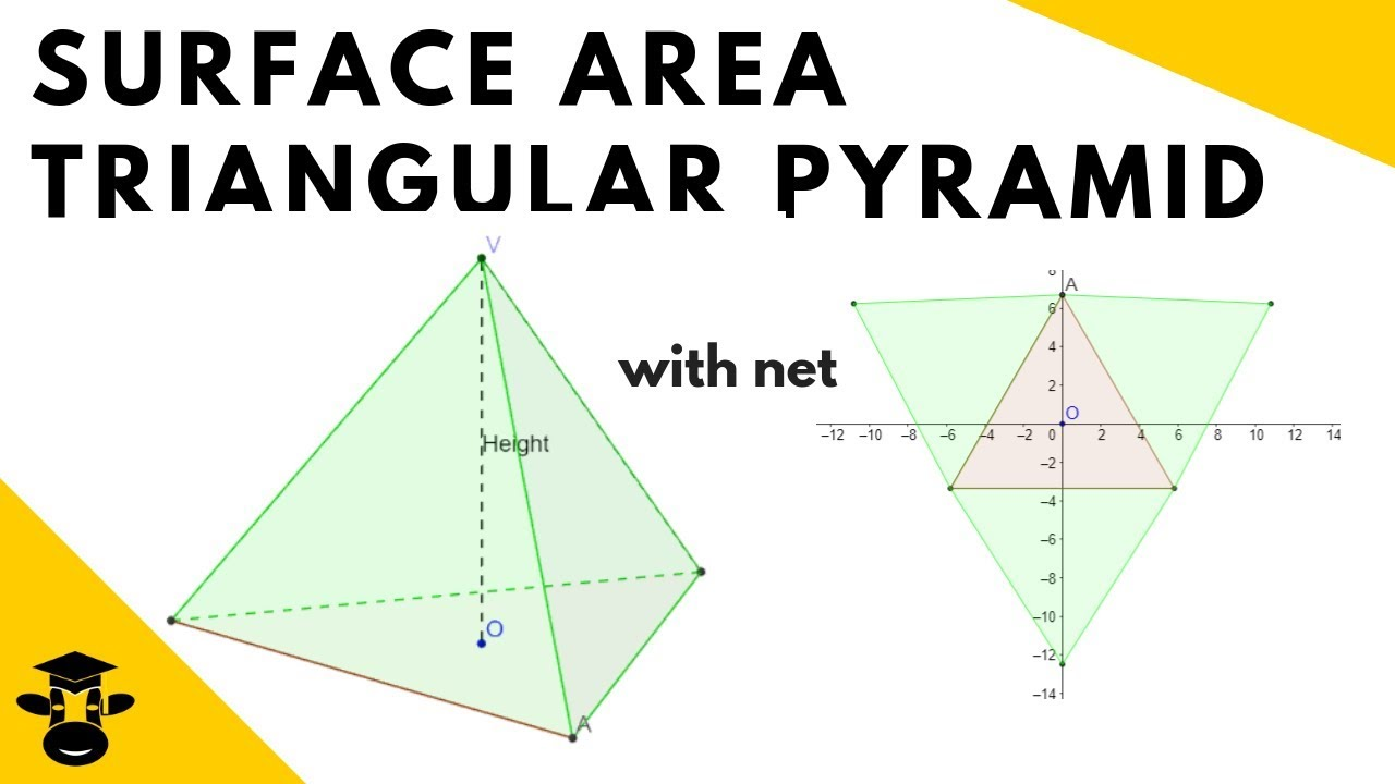 worksheet Surface Area Of A Pyramid surface area triangular pyramid includes net of the shape youtube shape