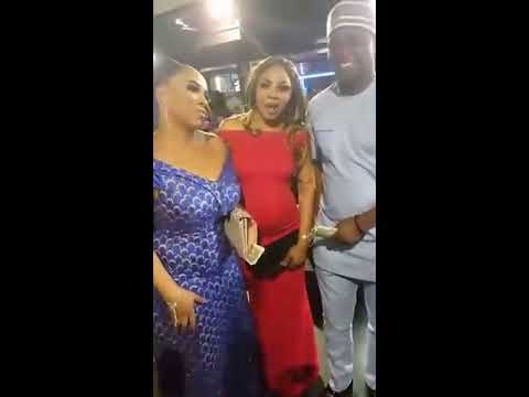 FEMI ADEBAYO DANCE TO WALE THOMPSON'S MUSIC IN LONDON, OMIRAN MOVIE PREMIER